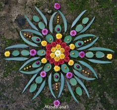 art mypost psychedelic colors nature amazing garden geometry Spiritual mandala zen flower of life sacred geometry mandalas nature art land art landart