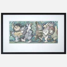 Vintage Maurice Sendak Portfolio Print Lithograph Where the Wild things Are Maurice Sendak, Best Children Books, Scary Monsters, Collage Making, Artsy Fartsy, Design Inspiration, Creative Inspiration, Art Pieces, Illustration Art