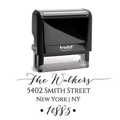 Return Address Family Last Name Surname Stamp Personalized Trodat Custom Self Inking Rubber Stamper | Housewarming Gift Stamp Wedding Custom Labels Black Ink Pixie Perfect Stamps http://www.amazon.com/dp/B0148D0L30/ref=cm_sw_r_pi_dp_2.CPwb0DW97PY