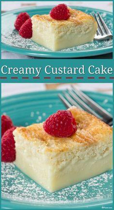 Custard cake is an old-fashioned favorite that many of us remember from our childhood. Simple, creamy, and delicious! Creamy Custard Cake Fiesta Dinnerware fiestadishes Desserts Custard cake is an old-fashioned favorite that many of us remember fro Pudding Desserts, Custard Desserts, Custard Recipes, Köstliche Desserts, Delicious Desserts, Baked Custard Recipe, Custard Pudding, Simple Custard Recipe, Vanilla Magic Custard Cake