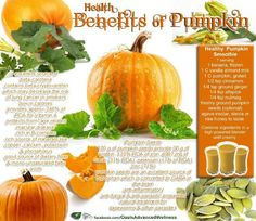 Health Benefits of Pumpkin-- This is why I LOVE pumpkin