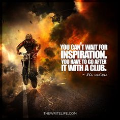 What's that famous saying about inspiration vs. perspiration?