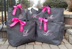 Personalized Bridesmaid Totes private listing for by Carabellas