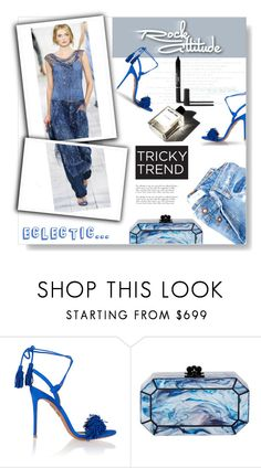 """TrickyTrend : Dress & Pants..."" by desert-belle ❤ liked on Polyvore featuring Aquazzura, Edie Parker, MANGO, Garance Doré, women's clothing, women's fashion, women, female, woman and misses"