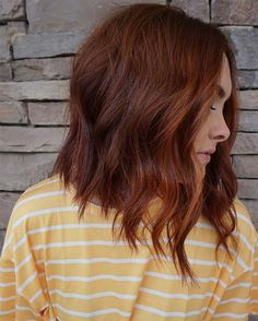 Red Long Bob Hairstyle Idea bob hairstyles for thick hair red bob hairstyles for thick hair red Long Bob Hairstyles For Thick Hair, Modern Bob Hairstyles, Bobs For Thin Hair, Medium Bob Hairstyles, Gorgeous Hairstyles, Red Hair Bobs, Red Hair Long Bob, Greaser Hairstyles, Long Haircuts