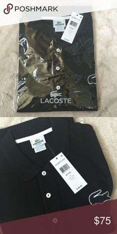 ❗️final sale❗️Mens Lacoste polo shirt Brand new Lacoste Polo shirt, black/white. This is the newer version with the bigger crocodile logo. 100% cotton. 💯authentic. Price FIRM Lacoste Shirts Polos