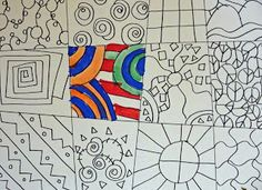 Deep Space Sparkle – Line drawing art lesson