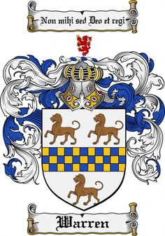 Warren Coat of Arms Warren Family Crest Instant Download - for sale, $7.99 at Scubbly