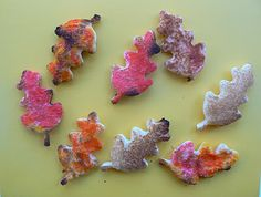 Making Our Own Fall Leaves: Painted Toast Style - - Pinned by #PediaStaff.  Visit http://ht.ly/63sNt for all our pediatric therapy pins