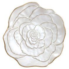 Large Rose Bowl in Cream