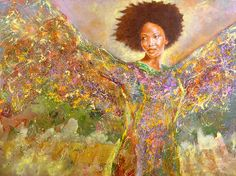 Title: Sista Just Up And Flew Away Artist: Raymond Walker Medium: Painting - Oil And Acrlyic On Canvas