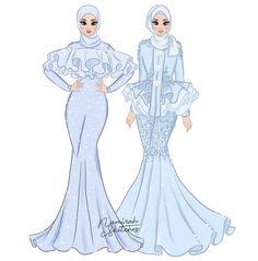 Dress Design Drawing, Dress Design Sketches, Dress Drawing, Fashion Design Drawings, Fashion Sketches, Fashion Drawing Dresses, Fashion Illustration Dresses, Modest Fashion, Fashion Outfits