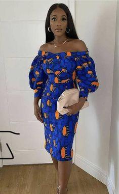 African Outfits, African Fashion, Ankara, Ruffles, Shoulder Dress, Dresses, Vestidos, African Wear, Dress