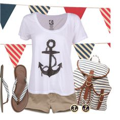 Get Nauti by qtpiekelso on Polyvore featuring Billabong, Hollister Co., Quiksilver and Forever 21