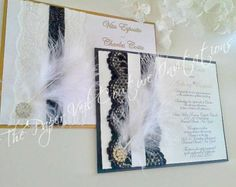Custom listing for Melissa 75 Menus Lacey by thepaperveilcouture