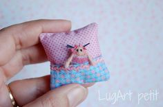 Little+cushion+with+tiny+primitive+doll.+by+LugartPetit+on+Etsy