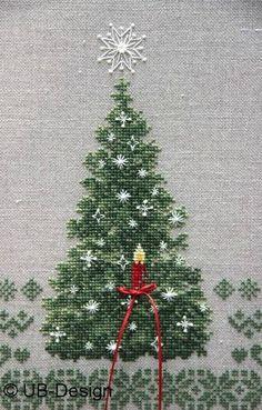 cross-stich christmas tree Kreuzstich Weihnachtbaum