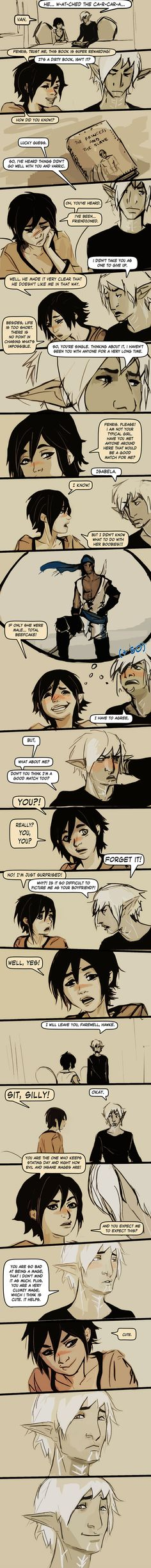 Fenris and Hawke 01 by chakhabit on deviantART