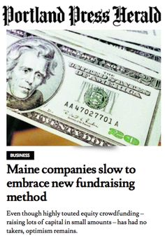 #bitzybaby joins the many voices of Maine entrepreneurs opting out of equity crowd funding