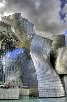 The Guggenheim Museum in Bilbao, Spain, designed by Frank Gehry, 1997
