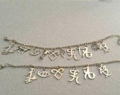 Shadowhunters Charms Bracelets; The Mortal Instruments Bracelets; Runes Bracelets; City of Bones; Fantasy Bracelets; Gift For Her