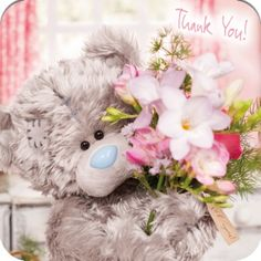 Tatty Teddy Online - Thank You Me to You Bear Card