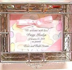 Custom Made Beveled Glass Box