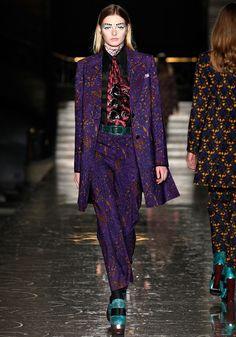 Miu Miu Fall 2012 Purple print suit