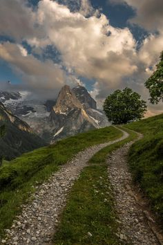 Mountain Road, The Alps, Switzerland. Would love to drive down this road! Oh The Places You'll Go, Places To Travel, Places To Visit, Travel Destinations, Beautiful World, Beautiful Places, Beautiful Scenery, Magic Places, Photos Voyages
