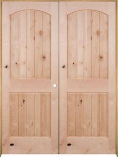 Mastercraft Knotty Alder Arch Plank Raised 2 Panel Prehung Mastercraft  Interior Doors Mastercraft Interior Doors Design