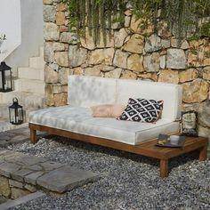 Banquette lit de jardin acacia, Chann La Redoute Interieurs