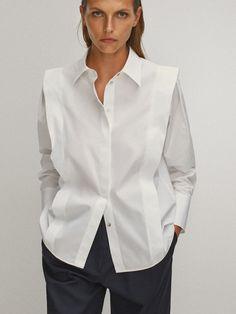Blouse Styles, Blouse Designs, Moda Minimal, White Shirts, Looks Style, Minimal Fashion, Shirt Blouses, Blouses For Women, Ideias Fashion