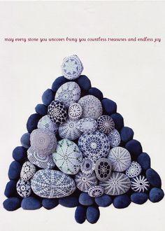 More crochet-covered stones