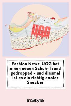 Fashion News: UGG hat einen neuen Schuh-Trend gedropped – und diesmal ist es ein richtig cooler Sneaker: Nein, UGG macht nicht nur gemütliche Boots. Jetzt hat die Brand einen richtig sommerlichen Schuh-Trend gelauncht: ziemlich coole Sneaker! Uggs, Words, Sneakers, Fashion, New Shoes, New Fashion Trends, Styling Tips, Tennis, Moda