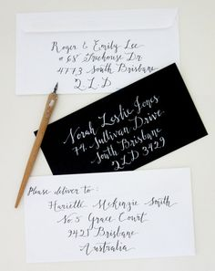 Custom Calligraphy Envelope Addressing Kaitlin style  by EpiWrites