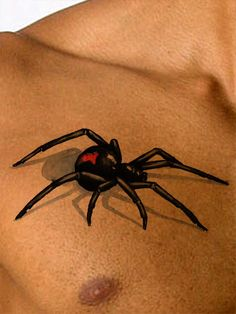 This 3D tattoo spider appears to be actually crawling across your skin! Spider tattoos represent cunning and intellect, or just the desire to shock others with something a bit creepy and cool. Availab