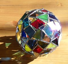 stained glass ornamental ball