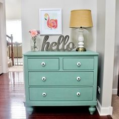 @delightnoted linked up this pretty chalk painted dresser to #thecreativecollection, we love it! (Even though it's not @bbfrosch, we adore the color, and the knobs, and the staging, and Jen's humor ;). It ties in nicely with our 20+ chalk paint powder projects you CAN do! Head to LollyJane.com to see them all. #ljlovesbbf