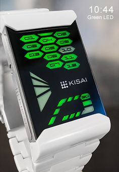 "Tokyoflash ""Kisai Console Acetate"" LED wristwatch."