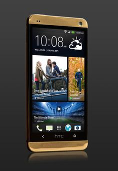 http://luxuryvolt.com/2013/10/gold-htc-one-only-5-handsets-made/ #htcone #gold #luxuryphone