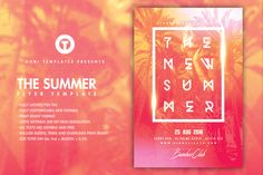 SUMMER BEACH Flyer Template by OVNI-TEMPLATES on @creativemarket
