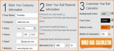 Bail Bond Calculator Instructions. How to put the Jail Guide Bail Bond Calculator on your website.