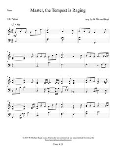 Free hymn arrangement of Master the Tempest is Raging from the LDS hymns book. Advanced level piano arrangement for free. Lds Hymn Book, Lds Hymns, Free Lds Sheet Music, Printable Sheet Music, Minor Scale, Ocean And Earth, Sad Heart, Church Music, Original Song