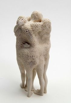 Argentinian artist Claudia Fontes, Foreigners, 2016, porcelain