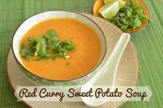Red Curry Sweet Potato Soup | www.MaryMakesDinner.com