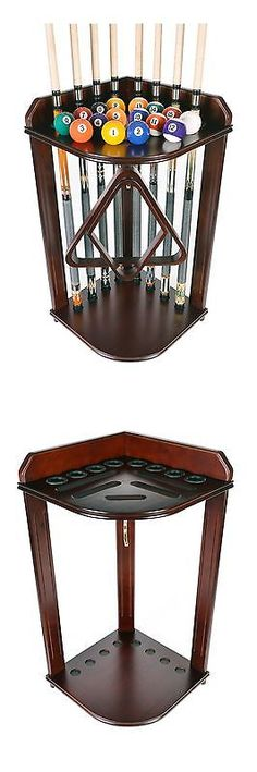 Ball and Cue Racks 75185: Pool - Billiard Cue Rack Only- Holds 8 Cues And Ball Set Mahogany Scratch + Dent -> BUY IT NOW ONLY: $74.95 on eBay!