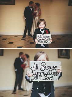 Wedding sign #wedding  #PageBoys #RingBearers ... Wedding ideas for brides, grooms, parents & planners ... https://itunes.apple.com/us/app/the-gold-wedding-planner/id498112599?ls=1=8 … plus how to organise an entire wedding, without overspending ♥ The Gold Wedding Planner iPhone App ♥