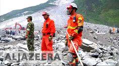 China: Rescue efforts called off in China after new landslides Al Jazeera English, Effort, China, Porcelain Ceramics, Porcelain