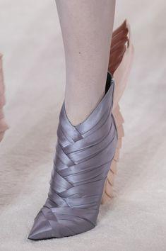 Balmain Paris at Couture Spring 2019 - Details Runway Photos Ballet Shoes, Dance Shoes, Metallic Shoes, Cute Sandals, Spring Shoes, Trendy Shoes, New Shoes, Women's Shoes, Short Boots