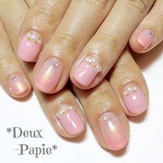 ♡ *Monthly Collection* ♡5月* * * お上品ネイル✨ ピンクにパール♡ * * #nail #nails #nailart #nailsalon #gel #gelnail #manicure #deuxpapie #ネイル #ネイルアート #ネイルデザイン #ネイルサロン #アートサンプル #ジェル #ジェルネイル #ドゥパピエ #京都 #京都ネイル